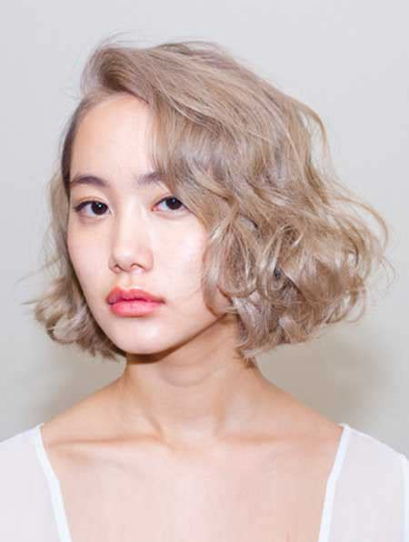 short bob haircut with wavy perm short hairstyle for asian girl short hairstyles 2016
