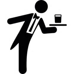waiter serving a drink on a tray icons free download