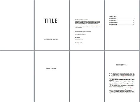 Free Book Design Templates And Tutorials For Formatting In Ms Word Booklet Template Microsoft Word