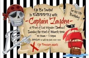 pirate themed invitation thank you card stickers