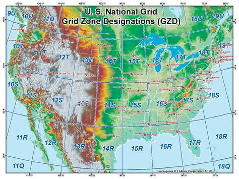 map of the united states with latitude and longitude and cities i 1 introducing the united states national grid