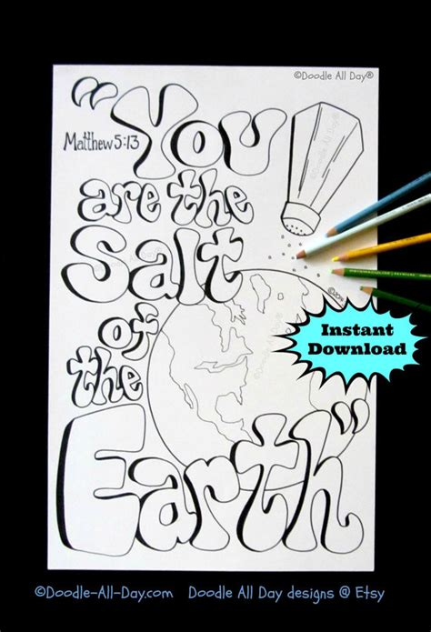 coloring page salt of the earth salt bible coloring pages of the earth salt best free