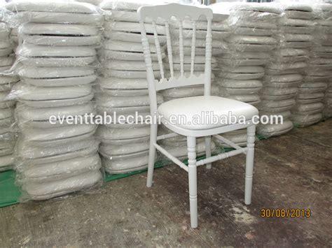 houten napoleon stoel wit hout bruiloft napoleon stoelen met pvc kussen pad te