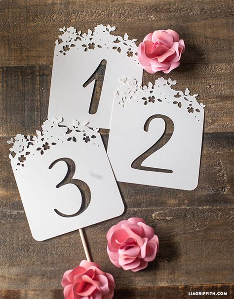 Wedding Table Numbers by Diy Wedding Table Numbers Lia Griffith