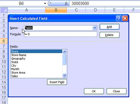 calculated in adding calculated fields to pivot table p l part 3 of 6