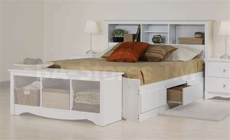 storage bed with bookcase headboard prepac monterey platform storage bed with bookcase