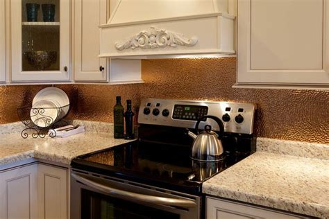 hammered copper backsplash kitchen 40 best images about back splashes on copper stove and stainless steel
