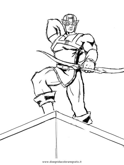 Hawkeye From The Avengers Colouring Pages Page 2 Hawkeye Coloring Pages