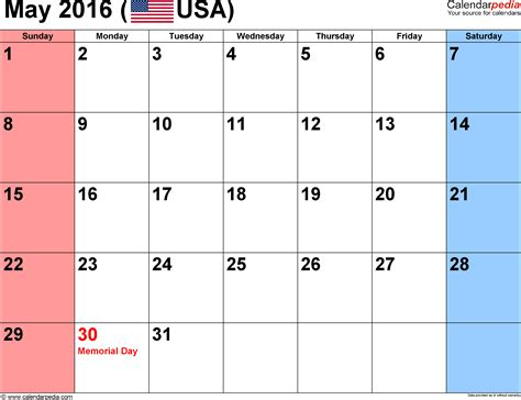 may 2016 calendar holidays 2017 printable calendar may 2016 calendars for word excel pdf