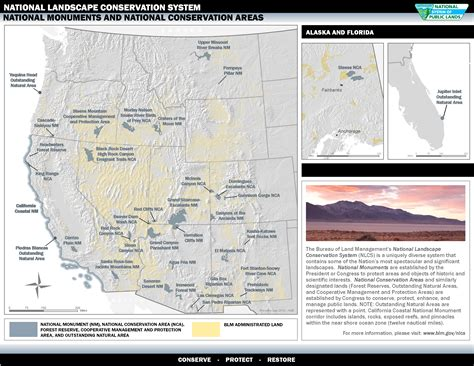 national monuments map management of designated areas conservation in a
