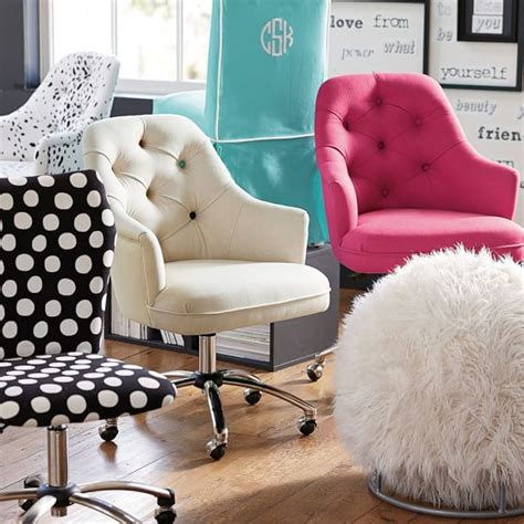 pink tufted desk chair twill tufted desk chair pbteen