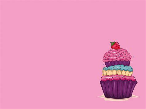 Strawberry And Cake Backgrounds Foods Drinks Health Templates Free Ppt Backgrounds And Cupcake Powerpoint Template