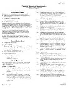 Financial Questionnaire Template by Form Financial Questionnaire Fill Printable