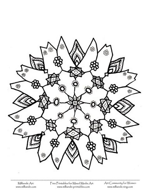 advanced snowflake coloring pages detailed christmas coloring pages coloring home