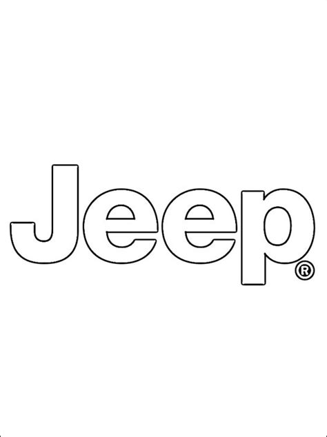 coloring page jeep logo coloring pages