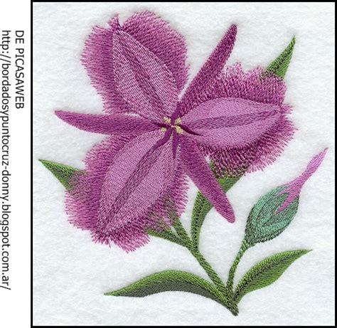 imagenes de flores bordadas a mano bordados y punto cruz bordado y punto cruz flores bordadas