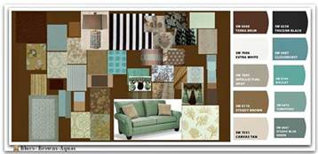 Upholstery Places Blue Brown And Aqua Color Palette Places In The Home
