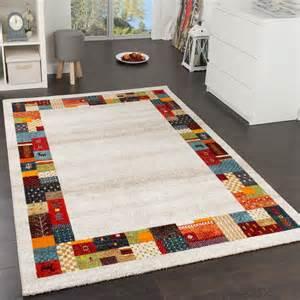 gabbeh teppich beige designer teppich modern loribaft bord 252 re nomaden teppich
