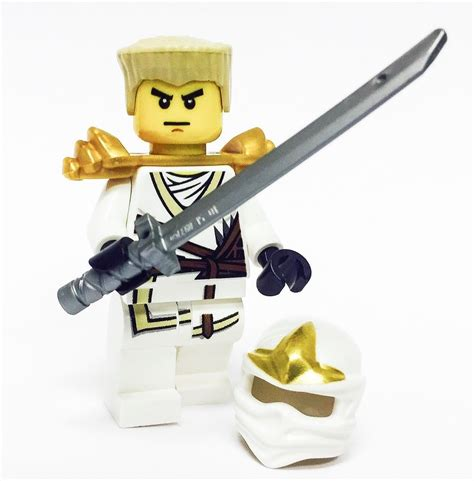 Lego Minifigure Zane Zx lego ninjago minifigure zane zx gold armor katana white with hair and ebay