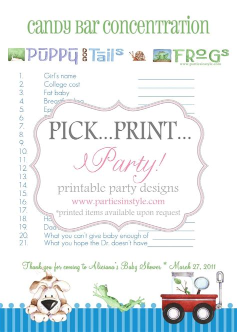 Bar For Baby Shower Printable by Baby Shower Bar Concentration Printable Diy
