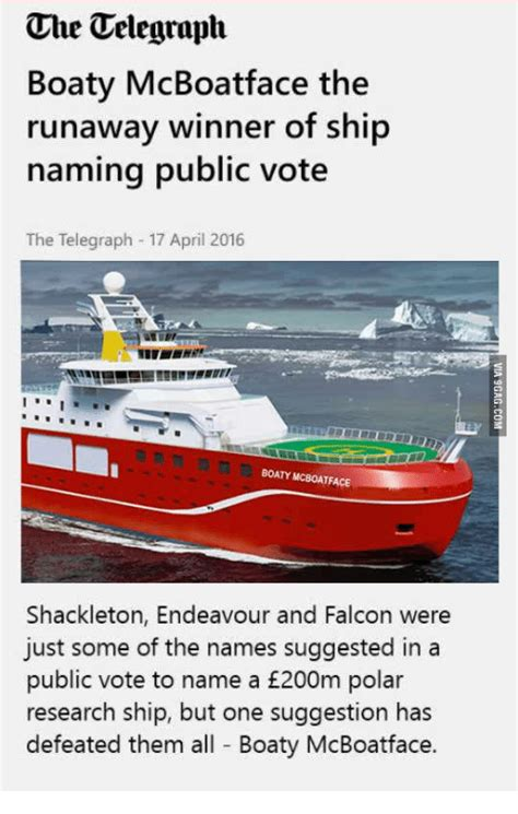 boaty mcboatface che telegraph boaty mcboatface the runaway winner of ship