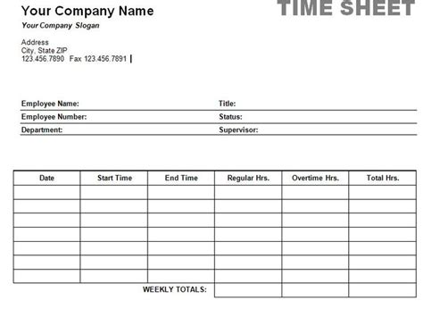 time card template duties performed free printable timesheet templates printable weekly time