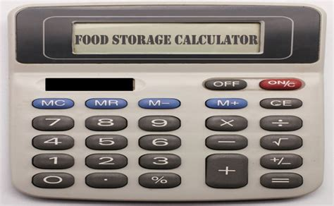 food calculator food storage calculator 1 year of bulk foods