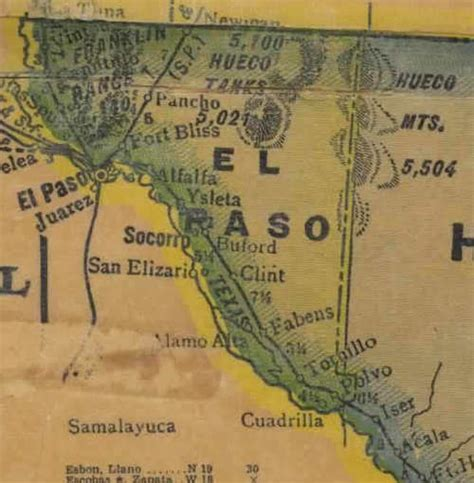 where is el co on texas map el paso county texas