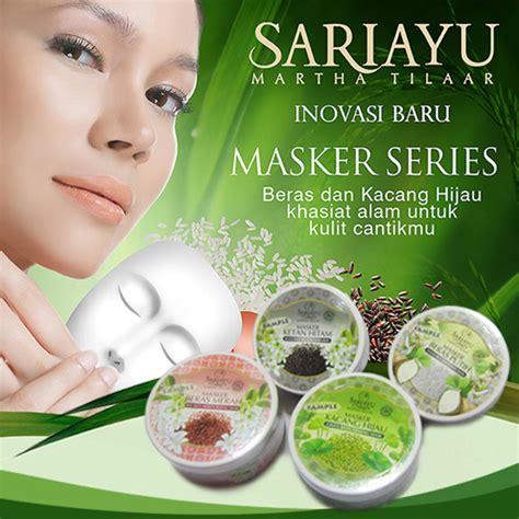 Masker Sariayu Kacang Hijau cantik alami dengan sariayu babacucu