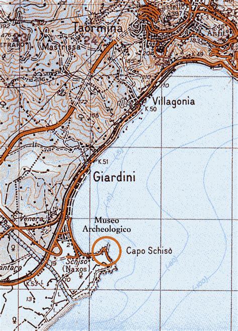 mappa giardini naxos mappa di giardini naxos