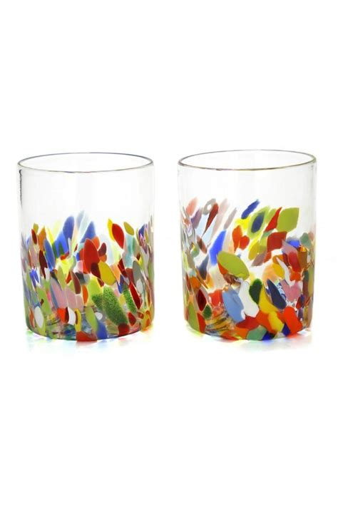 Value Multi Tumbler Tulipware multi colored glass tumblers from florida by the laughing gallery shoptiques