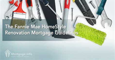 2017 the fannie mae homestyle renovation mortgage