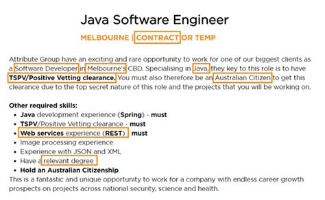 java swing jobs what should a cover letter cover attribute group
