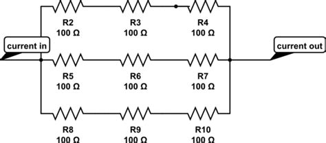resistor parallel matrix resistors what is an n by n matrix in a series parallel circuit electrical engineering