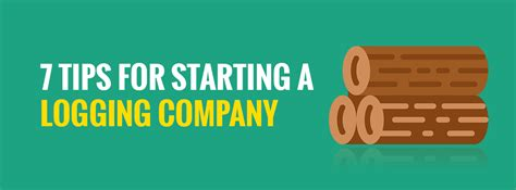 7 Tips For Forming A Non Profit by 7 Tips For Starting A Logging Company