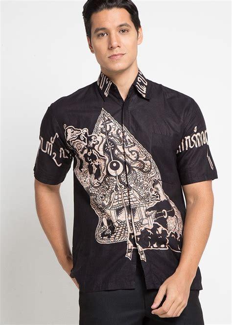 batik jt batik geber aksara jawa kemeja formal pria