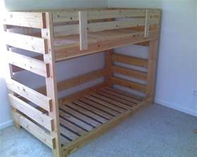 build a bunk bed 25 best ideas about pallet bunk beds on