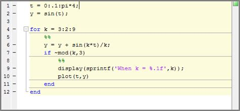 coding information that pertains to an entire section run code sections matlab simulink mathworks italia