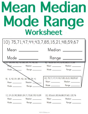 Median Mode Range Worksheets Pdf by Median Mode Range Worksheet Stem Sheets