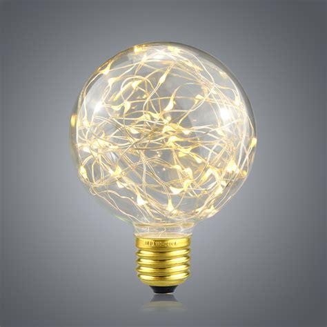 1pcs Vintage Design Fairy Led Bulb G95 E27 85v 265v Rgb Filament Bulb String Lights