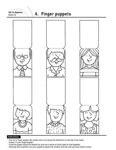 Best Photos Of Family Finger Puppets Printable Family