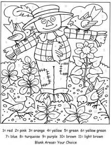 color number fall color number coloring pages color number kindergarten free coloring