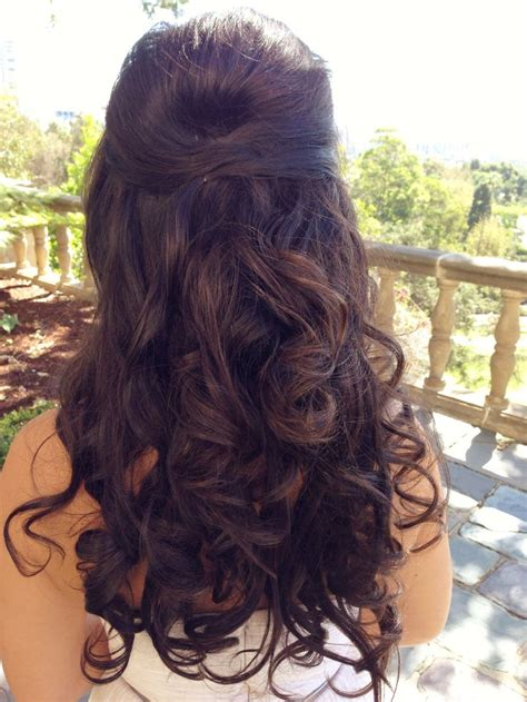 hairstyles half up half down curly hair cute prom hairstyles half up half down for long hair
