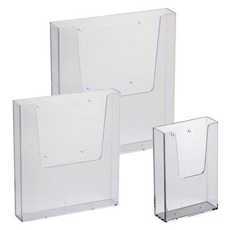 a4 a5 dl leaflet holder wall mount brochure dispenser