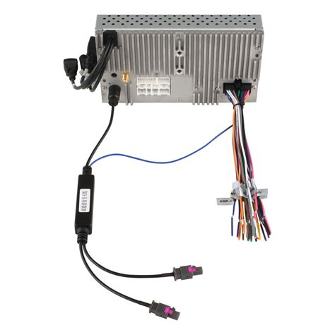 dvd gps radio installation two ways antenna adapter fakra to din adapter connect cable for audi
