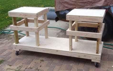Diy Table Saw Stand by Diy Table Saw Stand On Casters The Wolven House Project