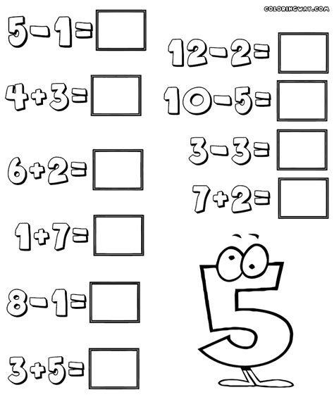easy addition coloring page easy math worksheets lesupercoin printables worksheets