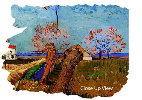 willows and path mural path through a field with willows by gogh classic canvas stretched canvas