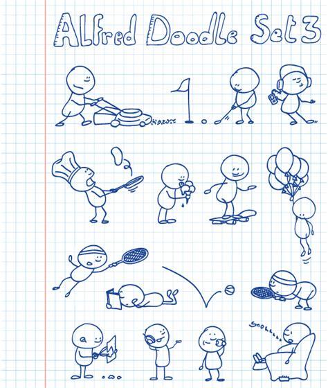 alfred doodle free vector alfred doodle set 3 vectorific