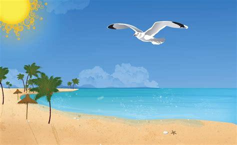 Imagenes Comicas En La Playa   dibujos infantiles de verano dibujos de verano